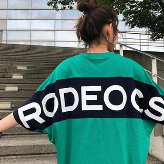 RODEO CROWNS WIDE BOWL - HUGE ロゴ ワンピース GRN/F