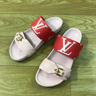 LOUIS VUITTON 靴/シューズ サンダル パンプス サイズ37