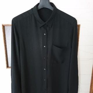 GU - シャツ 黒  サイズL