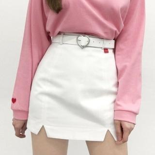 ミックスエックスミックス(mixxmix)の新品未使用品 mixxmix heartclub ホワイト スカート(ミニスカート)