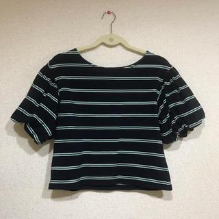 ミスティウーマン(mysty woman)のmysty woman ボーダー Tシャツ カットソー(Tシャツ(半袖/袖なし))
