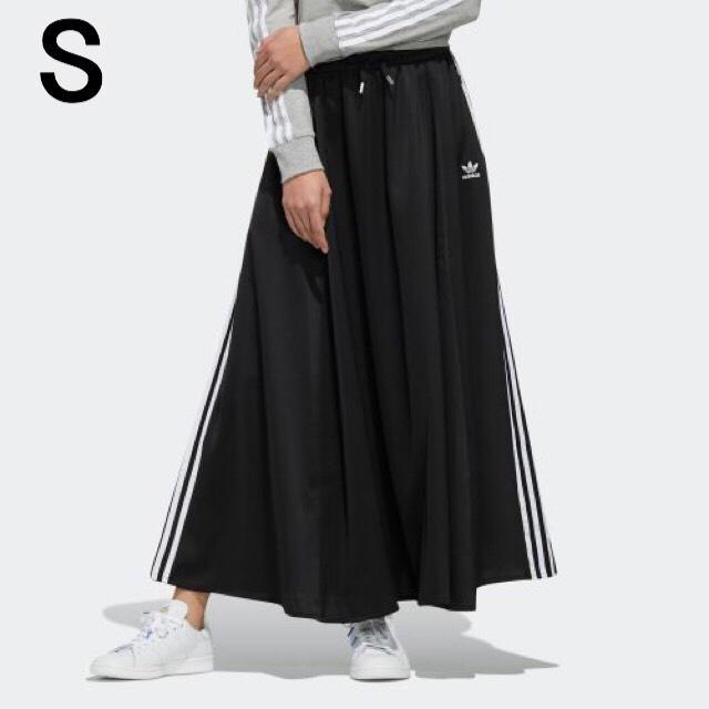 adidas(アディダス)のアディダスオリジナルス ロングスカート LONG SATIN SKIRTわ レディースのスカート(ロングスカート)の商品写真