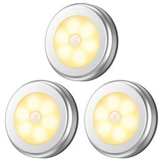 LED 人感 センサーライト  足元ライト 電球色 3個セット
