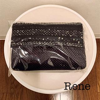 ルネ(René)の【Rene】ノベルティ・新品未使用未開封・黒・ツイードバッグ(ノベルティグッズ)