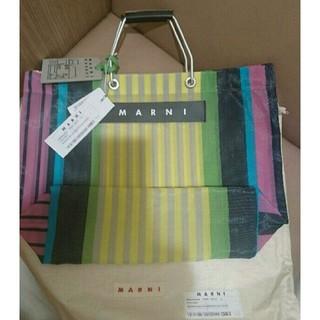 マルニ(Marni)のMARNI Market ストライプバッグ 新品未使用タグ付き(トートバッグ)