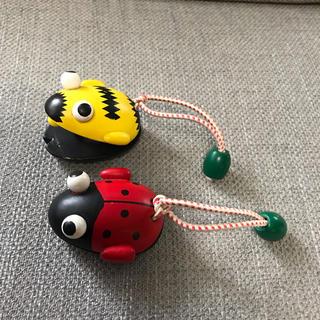 ボーネルンド(BorneLund)のカエル、てんとう虫のカスタネット(楽器のおもちゃ)