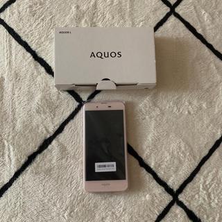 AQUOS - UQ mobile AQUOS L SHV37 ピンク 新品未使用 SIMフリー