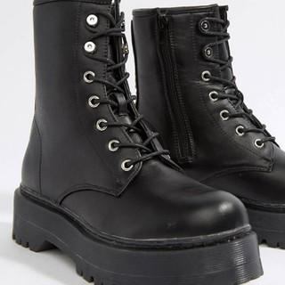 エイソス(asos)の【新品】厚底ブーツ25cm【ASOS】(ブーツ)