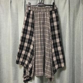 しまむら - しまむらチェックロングスカート