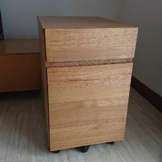 ムジルシリョウヒン(MUJI (無印良品))の無印良品 タモ材 キャビネット 北欧 家具 木製 天然(棚/ラック/タンス)