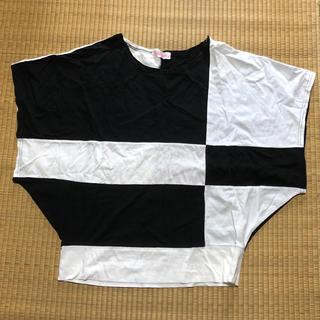 ファンキーフルーツ(FUNKY FRUIT)のモノトーン変形トップス(Tシャツ(半袖/袖なし))