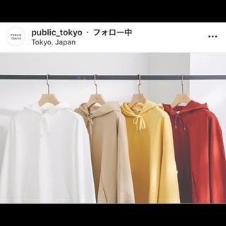 ハレ(HARE)のpublic tokyo パーカー 3 完売商品 白(パーカー)