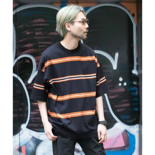 アーバンリサーチ(URBAN RESEARCH)のURBAN RESEARCH マルチボーダーバルーンTシャツ(Tシャツ/カットソー(半袖/袖なし))