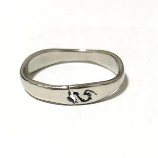 同時購入で300円 ステンレス指輪 龍(リング(指輪))