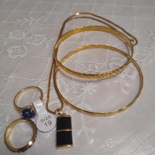 ネックレス、ブレスレット、ネックレス5点セット(リング(指輪))