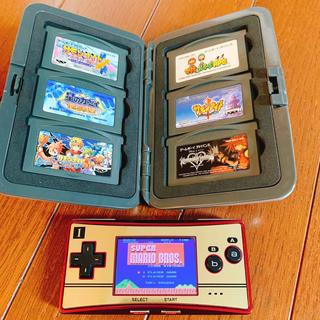 ゲームボーイ(ゲームボーイ)のGAME BOY micro / ゲームボーイミクロ ソフト7本セット(携帯用ゲーム本体)