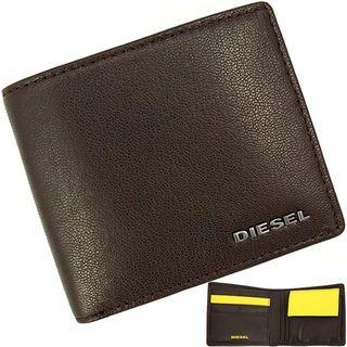 ディーゼル(DIESEL)の【新品】 ディーゼル 二つ折り財布 ロゴプレート 本革(折り財布)