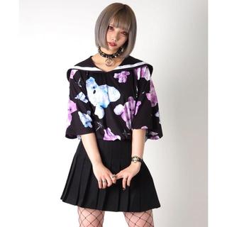 ミルクボーイ(MILKBOY)のTRAVAS TOKYO セーラー襟 くま 総柄 Tシャツ tee(Tシャツ(半袖/袖なし))