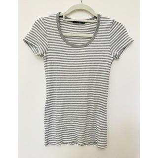 ジーユー(GU)のグレーボーダー Tシャツ☆(Tシャツ(半袖/袖なし))