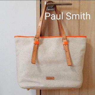 Paul Smith - 限定値下♪Paul Smith ポール・スミス トートバッグ キャンバス地 本革
