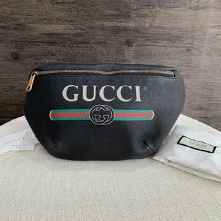 Gucci - 新品GUCCI グッチ プリント レザー ボディバッグ