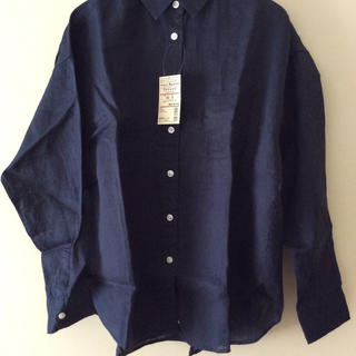 MUJI (無印良品) - 無印良品 フレンチリネン洗いざらし ワイドシャツ