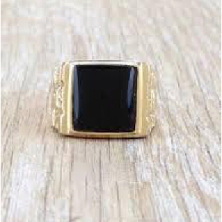 シュプリーム(Supreme)のSUPREME 14SS Onyx Pinky Ring 14Kピンキーリング(リング(指輪))