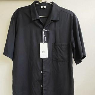 UNIQLO - UNIQLOユー ユニクロ U オープンカラーシャツ 半袖シャツ