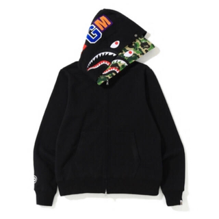 APE ABC SHARK FULL ZIP DOUBLE HOODIE