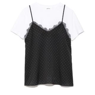 ミラオーウェン(Mila Owen)の♡値下げ♡ミラオーウェンレースキャミソール付きTシャツ♡1(Tシャツ(半袖/袖なし))