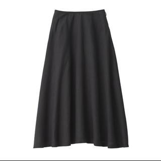 ムジルシリョウヒン(MUJI (無印良品))の無印良品  フレンチリネンイージーマキシフレアースカート M ダ-クグレー(ロングスカート)