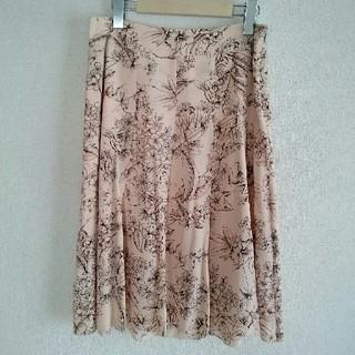 バーバリー(BURBERRY)のバーバリー 花柄 フレアスカート(ひざ丈スカート)