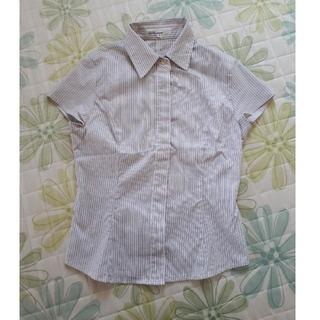 クリアインプレッション(CLEAR IMPRESSION)の半袖ストライプシャツ(シャツ/ブラウス(半袖/袖なし))