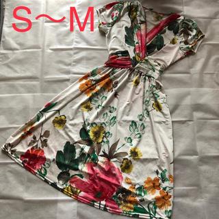 アーモワールカプリス(armoire caprice)のエジェリ♡フランス製花柄ワンピース♡(ひざ丈ワンピース)