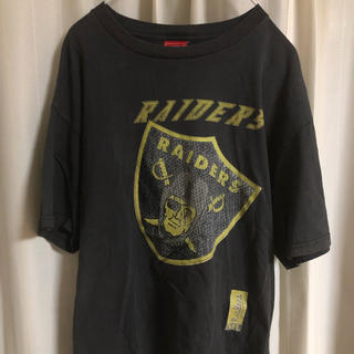 タイムセール【NFLヴィンテージ】レイダース  Tシャツ L(Tシャツ/カットソー(半袖/袖なし))