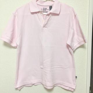ギャップ(GAP)のポロシャツ Mサイズ 薄ピンク(ポロシャツ)