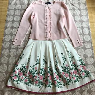 エムズグレイシー(M'S GRACY)の花柄 スカート(ひざ丈スカート)