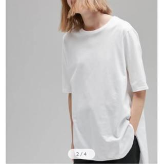 DEUXIEME CLASSE - エイトン ラウンドヘムTシャツ 白