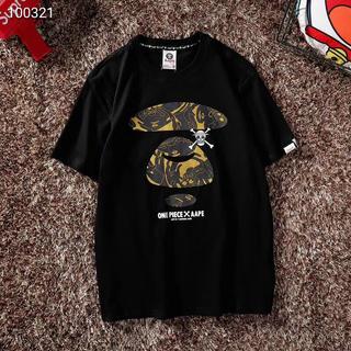 アベイシングエイプ(A BATHING APE)のONE PIECE X AAPE Tシャツ 人気  Lサイズ(Tシャツ/カットソー(半袖/袖なし))