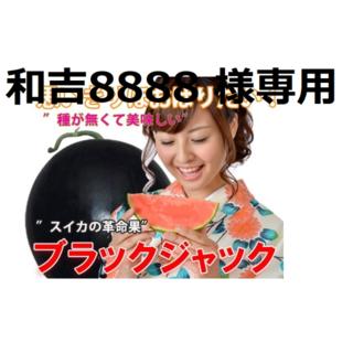 和吉8888 様専用  ① 最高級・最高品質のスイカ【ブラックジャック】(フルーツ)