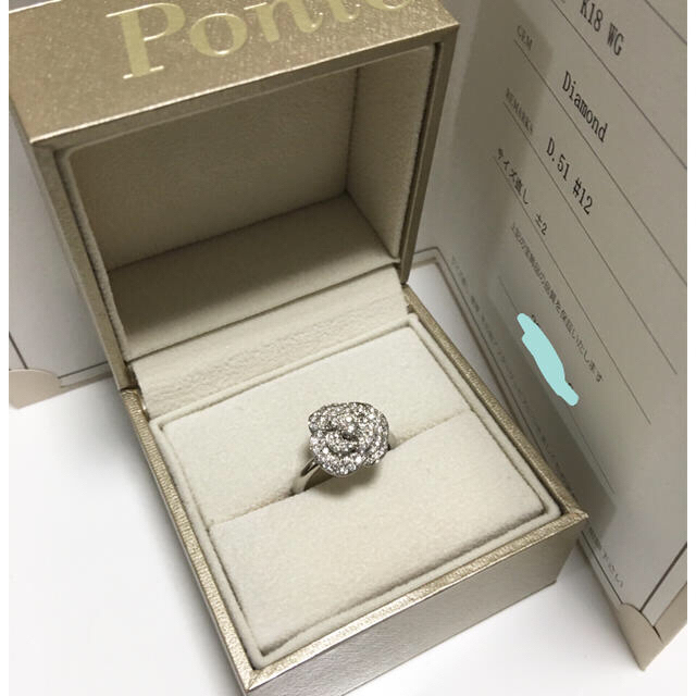PonteVecchio(ポンテヴェキオ)のポンテヴェキオ   イノセント・ローズ  ダイヤモンドリング  12号 レディースのアクセサリー(リング(指輪))の商品写真