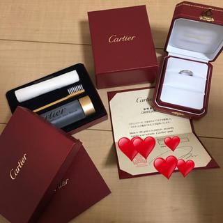 カルティエ(Cartier)のカルティエ ハーフエタニティ 9号 プラチナ リング(リング(指輪))