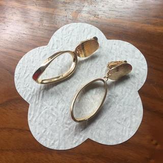ゴールド系 メタルイヤリング