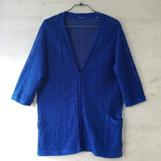 BLUE BLUE - BLUE BLUE ARIGATO 日本製 カーディガン 青 M