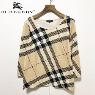 BURBERRY - 【BURBERRY LONDON】定番 バーバリーチェック ストレッチカットソー