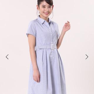 CLEAR IMPRESSION - ワンピース 半袖 青