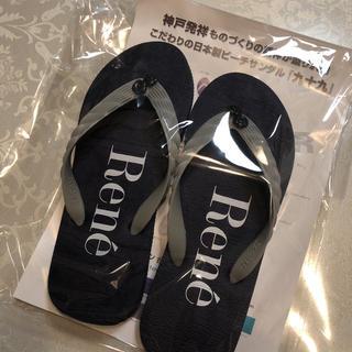 René - ルネ♡ 最新ノベルティ ビーチサンダル 新品 23㎝