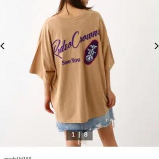 RODEO CROWNS WIDE BOWL - ロデオクラウンズ Tシャツ ベージュ
