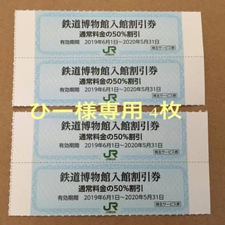 JR東日本 株主優待 鉄道博物館入館割引券2枚(追加可)