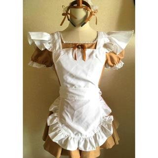コスプレ メイド服 ミニスカ(衣装一式)